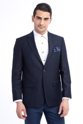 Erkek Giyim - KOYU MAVİ 52 Beden Slim Fit Blazer Ceket