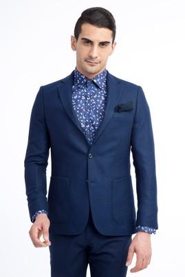 Erkek Giyim - Mavi 56 Beden Kuşgözü Ceket