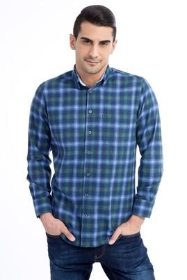 Erkek Giyim - Lacivert XXL Beden Uzun Kol Oduncu Gömlek