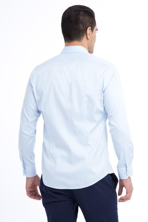 Uzun Kol Saten Slim Fit Gömlek