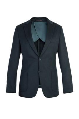 Erkek Giyim - KOYU YESİL 46 Beden Blazer Ceket
