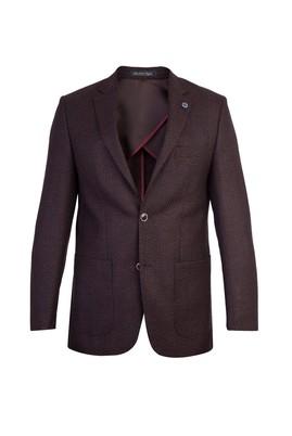 Erkek Giyim - KİREMİT 50 Beden Spor Desenli Ceket