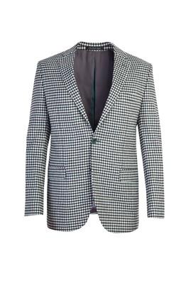 Erkek Giyim - KOYU YESİL 54 Beden Ekose Ceket