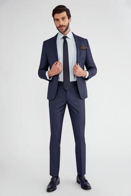 Erkek Giyim - Lacivert 46 Beden Slim Fit Takım Elbise