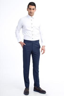 Erkek Giyim - Mavi 56 Beden Desenli Pantolon