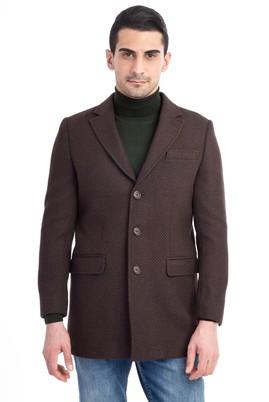 Erkek Giyim - Kahve 52 Beden Kaşe Yün Palto
