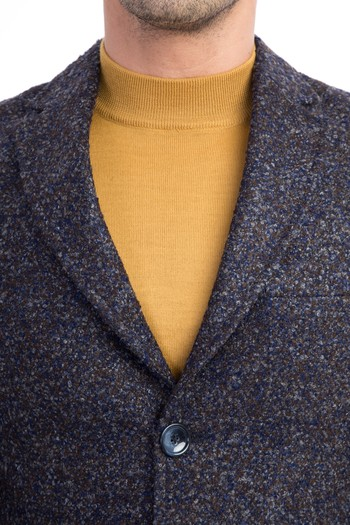 Erkek Giyim - Desenli Palto