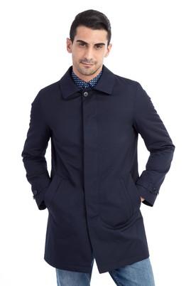 Erkek Giyim - Lacivert 66 Beden Klasik Pardösü