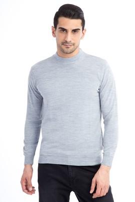 Erkek Giyim - Orta füme XXL Beden Bato Yaka Triko Kazak