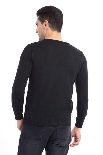 Erkek Giyim - V Yaka Regular Fit Triko Kazak