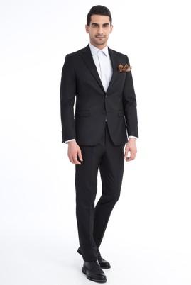 Erkek Giyim - Siyah 54 Beden Klasik Takım Elbise