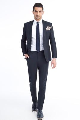 Erkek Giyim - Lacivert 50 Beden Klasik Takım Elbise