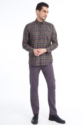 Erkek Giyim - Füme Gri 50 Beden Desenli Spor Pantolon