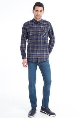 Erkek Giyim - Mavi 54 Beden Slim Fit Denim Pantolon
