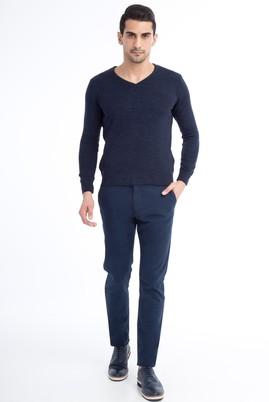 Erkek Giyim - KOYU MAVİ 52 Beden Slim Fit Spor Pantolon