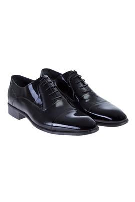 Erkek Giyim - Siyah 42 Beden Bağcıklı Klasik Rugan Ayakkabı