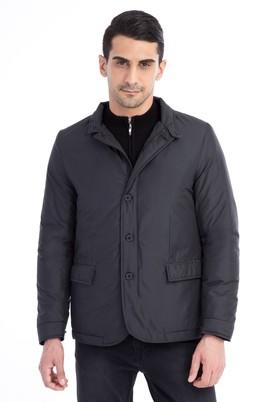 Erkek Giyim - Siyah 50 Beden Bonded Mont