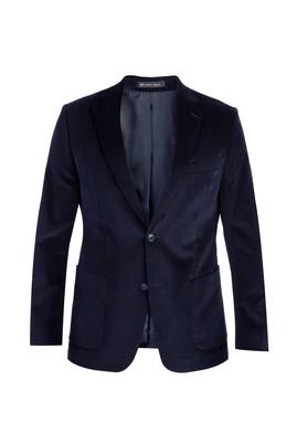 Erkek Giyim - Lacivert 48 Beden Kadife Ceket