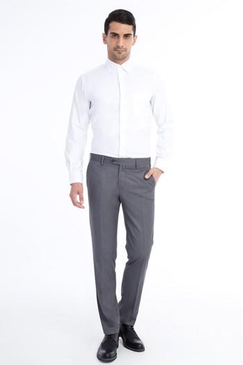 Erkek Giyim - Slim Fit Kuşgözü Klasik Pantolon
