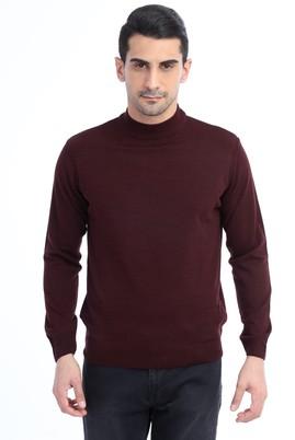 Erkek Giyim - Bordo M Beden Bato Yaka Triko Kazak