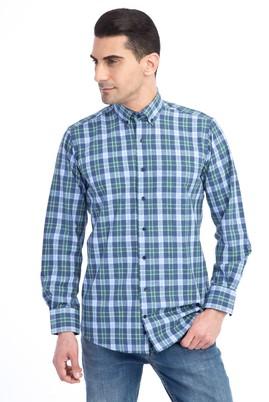 Erkek Giyim - Lacivert XL Beden Uzun Kol Oduncu Gömlek