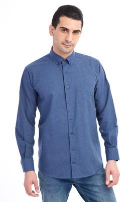 Erkek Giyim - Mavi M Beden Uzun Kol Oduncu Gömlek