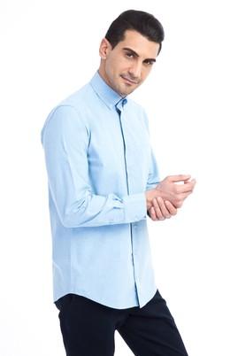 Erkek Giyim - Açık Mavi XL Beden Uzun Kol Oduncu Gömlek