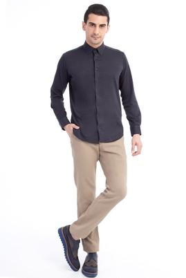 Erkek Giyim - Açık Kahve - Camel 48 Beden Slim Fit Desenli Spor Pantolon