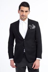 Erkek Giyim - Slim Fit Desenli Blazer Ceket