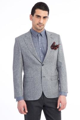 Erkek Giyim - Açık Gri 58 Beden Kuşgözü Ceket