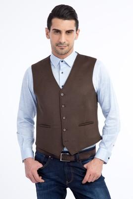 Erkek Giyim - TOPRAK 50 Beden Yünlü Klasik Yelek