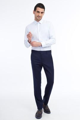 Erkek Giyim - Lacivert 54 Beden Flanel Pantolon