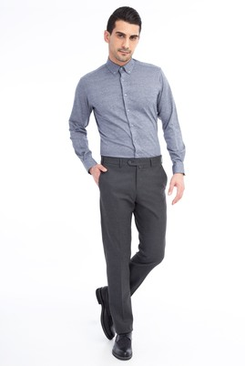 Erkek Giyim - Füme Gri 54 Beden Flanel Pantolon