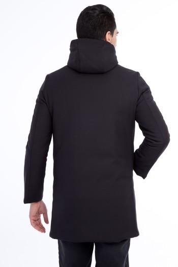 Erkek Giyim - Kapüşonlu Spor Kaban