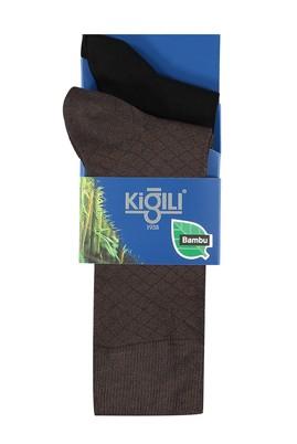 Erkek Giyim - Kahve 42 Beden 2'li Bambu Çorap