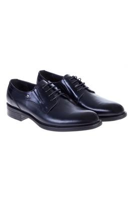 Erkek Giyim - Lacivert 42 Beden Bağcıklı Klasik Rugan Ayakkabı