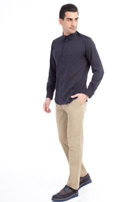 Erkek Giyim - Açık Kahve - Camel 58 Beden Slim Fit Spor Pantolon