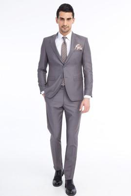 Erkek Giyim - Açık Gri 52 Beden Slim Fit Takım Elbise