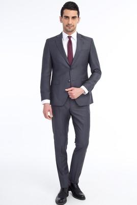 Erkek Giyim - Füme Gri 46 Beden Slim Fit Takım Elbise