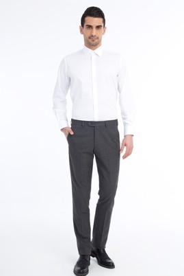 Erkek Giyim - Füme Gri 50 Beden Flanel Pantolon