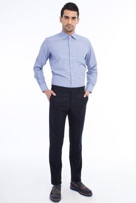Erkek Giyim - Lacivert 50 Beden Flanel Pantolon