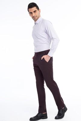 Erkek Giyim - Bordo 54 Beden Flanel Pantolon