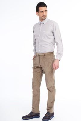 Erkek Giyim - Bej 46 Beden Kadife Pantolon