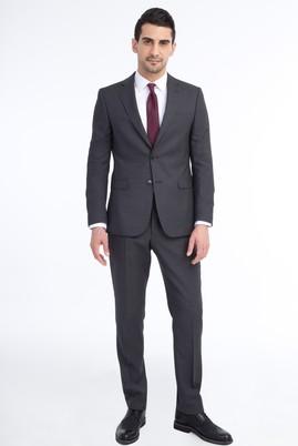 Erkek Giyim - Orta füme 50 Beden Kuşgözü Takım Elbise
