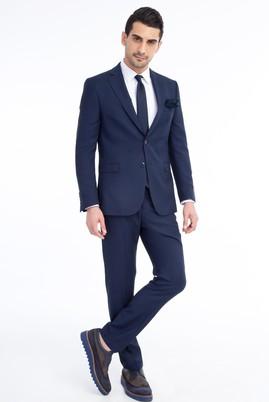 Erkek Giyim - Mavi 48 Beden Kuşgözü Takım Elbise