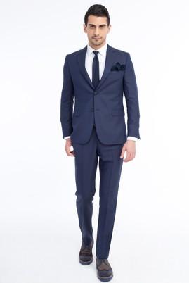 Erkek Giyim - Mavi 54 Beden Çizgili Takım Elbise