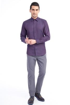 Erkek Giyim - ORTA FÜME 56 Beden Slim Fit Spor Pantolon