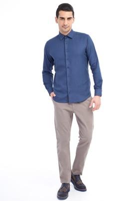 Erkek Giyim - Bej 50 Beden Slim Fit Spor Pantolon