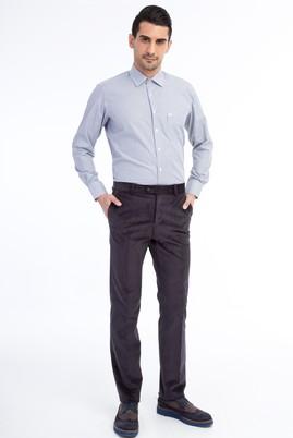 Erkek Giyim - Füme Gri 46 Beden Kadife Pantolon
