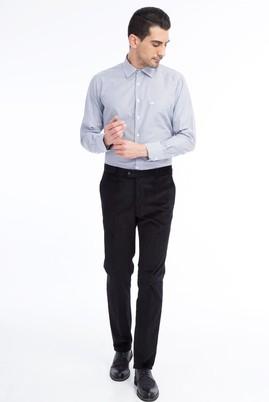 Erkek Giyim - Siyah 46 Beden Kadife Pantolon
